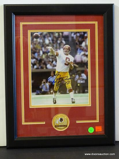 SIGNED REDSKINS PHOTOGRAPH; PHOTO IS OF AND IS SIGNED BY SONNY JURGENSEN. IS AN 8 IN X 10 IN