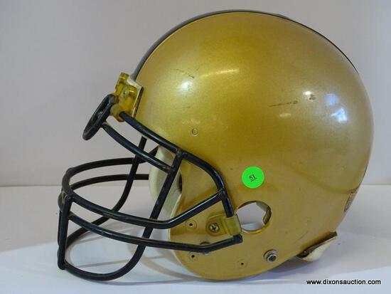 TROPHY HELMET; ARMY TROPHY FOOTBALL HELMET IN METALLIC GOLD AND BLACK. NOT TO BE USED FOR ACTIVE