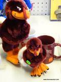 VIRGINIA TECH LOT; INCLUDES A VT GRANDMA COFFEE MUG, A VT DAD COFFEE MUG, AND 2 HOKIE PLUSHES.