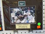SIGNED NY JETS PHOTOGRAPH; IS OF AND SIGNED BY JOE NAMATH (NFL HALL OF FAMER - 1985). HAS COA ON THE