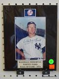 SIGNED NEW YORK YANKEES PHOTOGRAPH; IS OF AND SIGNED BY WHITEY FORD (MLB HALL OF FAMER - 1974). HAS