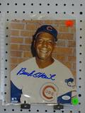 SIGNED CUBS PHOTOGRAPH; SIGNED BY BUCK O'NEIL. IS UNFRAMED AND MEASURES 8 IN X 10 IN