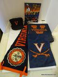 UVA LOT; INCLUDES A UVA BALL HAT, A 1997 MEDIA GUIDE, A GARDEN FLAG, A PENNANT, AND A STADIUM SEAT.