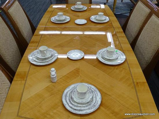 6 PIECE PLACE SETTING OF NORITAKE CHINA; IS IN THE SHENANDOAH PATTERN AND IS IN EXCELLENT CONDITION.