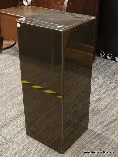 PEDESTAL; BLACK PEDESTAL STAND IN EXCELLENT CONDITION. MEASURES 12 IN X 12 IN X 30 IN
