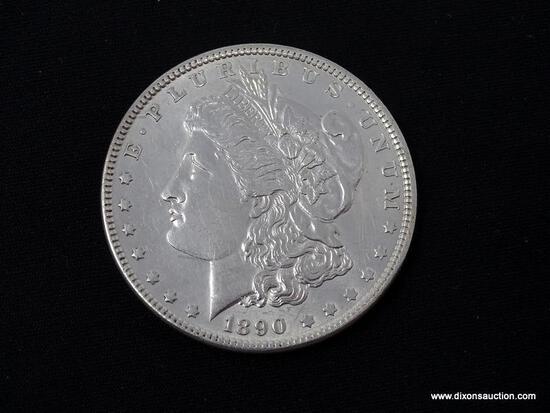 1890-P UNCIRCULATED MORGAN SILVER DOLLAR.