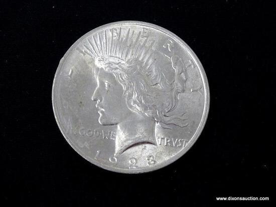 1923-P UNCIRCULATED MORGAN SILVER DOLLAR.
