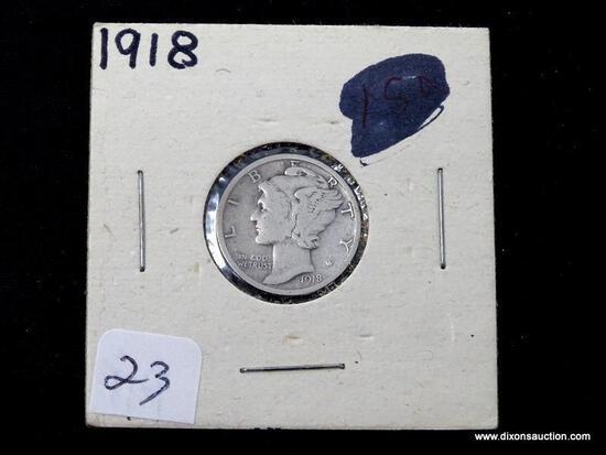 1918-P SILVER MERCURY DIME.