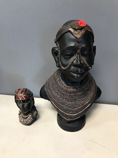 DECORATIVE BUSTS - SOME DAMAGE