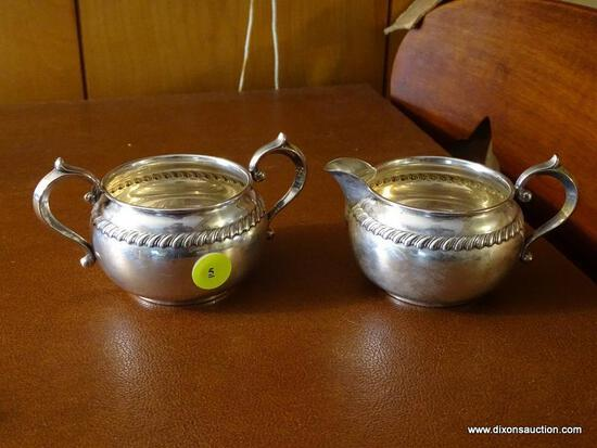 (FRM) STERLING SILVER; GORHAM STERLING SILVER CREAM AND SUGAR