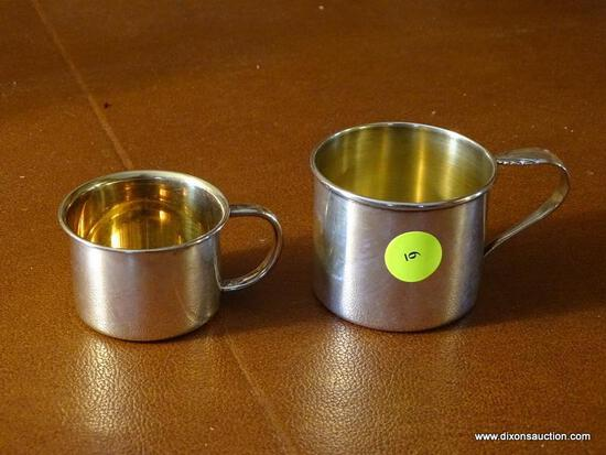(FRM) STERLING SILVER; HEIRLOOM TOWLE STERLING SILVER BABY CUPS