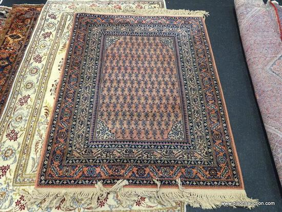 "KARASTAN MACHINE MADE RUG. MIR. MEASURES 4'4"" X 5'8""."