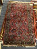 IRAN SAROUK RUG. MEASURES 2'8