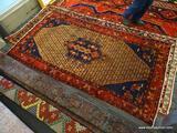 IRAN HAMADAN RUG. MEASURES 4'9