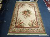 MACHINE MADE FRENCH RUG. MEASURES 5' 4