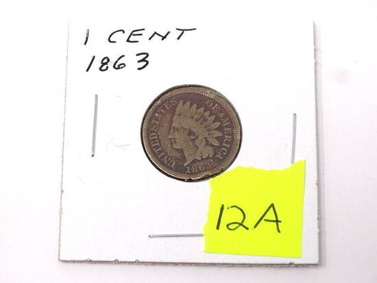 1863 INDIAN HEAD ONE CENT.