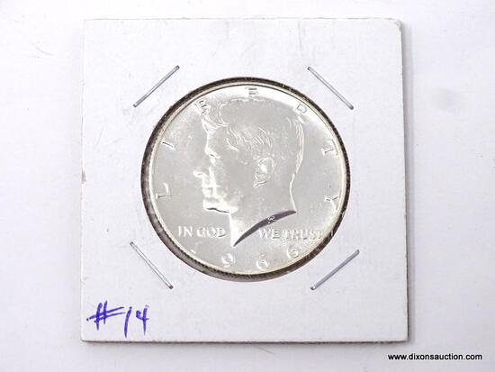 1966 UNCIRCULATED HALF DOLLAR.