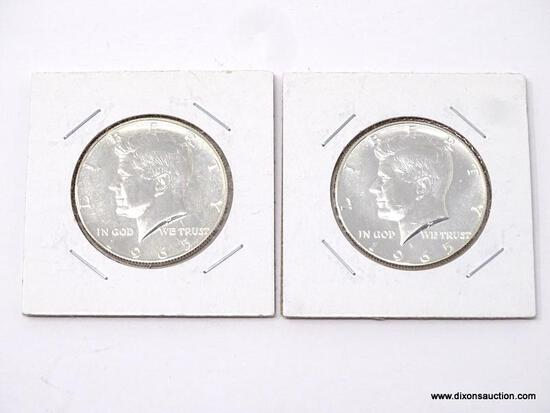 (2) 1965 PROOF KENNEDY HALF DOLLARS.