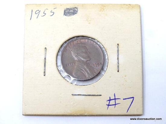 """1955 LINCOLN CENT, ERROR """"LIBERTY""""."""