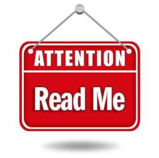AUCTION INFORMATION, PLEASE READ ME!