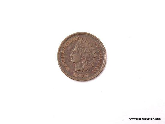 1907 EXTRA FINE INDIAN CENT.