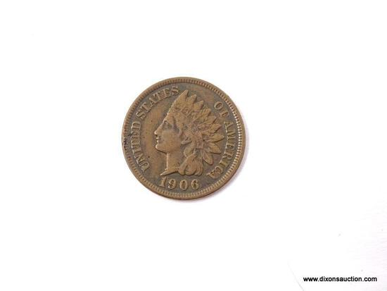 1906 EXTRA FINE INDIAN CENT.