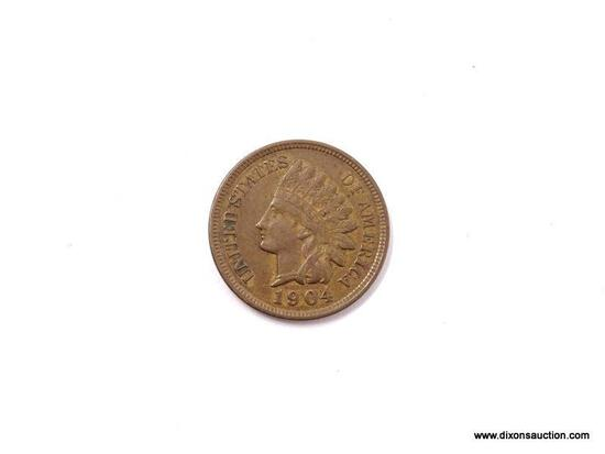 1904 EXTRA FINE PLUS INDIAN CENT.