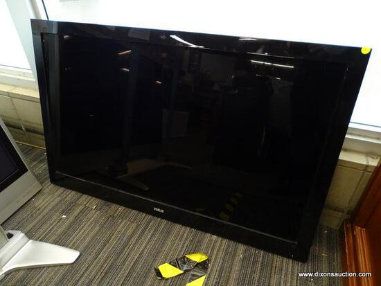 """RCA 46"""" FLATSCREEN LCD HDTV. HAS POWER CORD. ITEM IS SOLD AS IS WHERE IS WITH NO WARRANTY OR"""