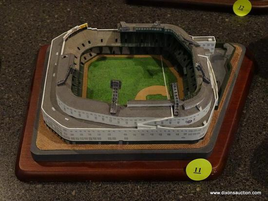 "(BAS) THE DANBURY MINT ""TIGER STADIUM HOME OF THE DETROIT TIGERS"" STADIUM FIGURINE. MEASURES 8.25 IN"