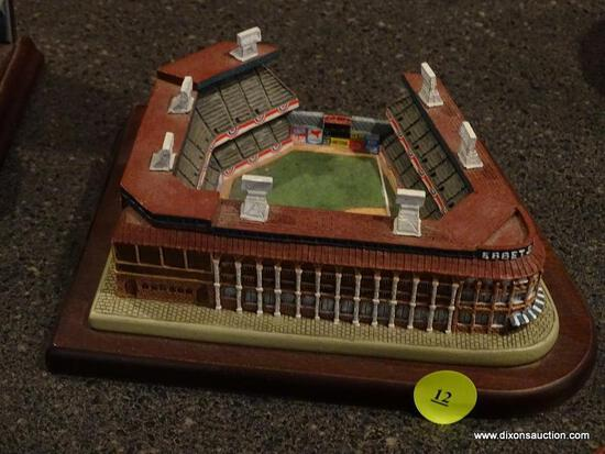 "(BAS) THE DANBURY MINT ""EBBETS FIELD HOME OF THE BROOKLYN DODGERS"" STADIUM FIGURINE. MEASURES 6.5 IN"