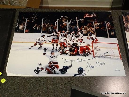 "(BAS) UNFRAMED AND AUTOGRAPHED JIM CRAIG 1980 USA CELEBRATION ""DO YOU BELIEVE IN MIRACLES?"" WITH COA"