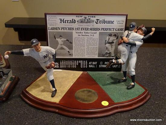 "(BAS) THE DANBURY MINT ""DON LARSEN'S PERFECT GAME"" FIGURINE FROM THE BASEBALL'S GREATEST MOMENTS"