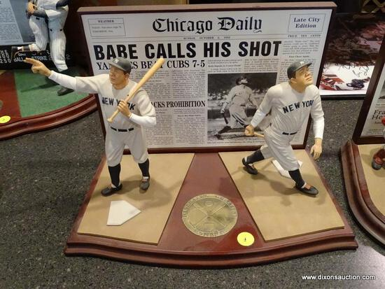 "(BAS) THE DANBURY MINT ""BABE RUTH'S CALLED SHOT"" FIGURINE FROM THE BASEBALL'S GREATEST MOMENTS"