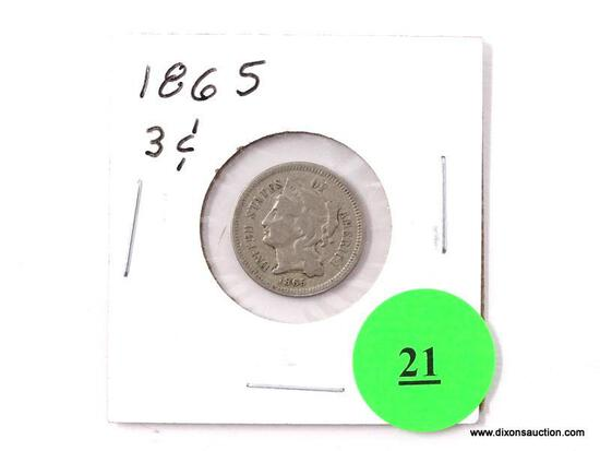 1865 Three Cents