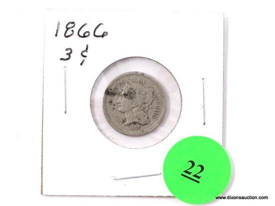 1866 Three Cents