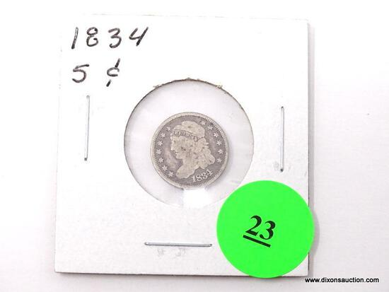 1834 5 Cents - Capped Bust