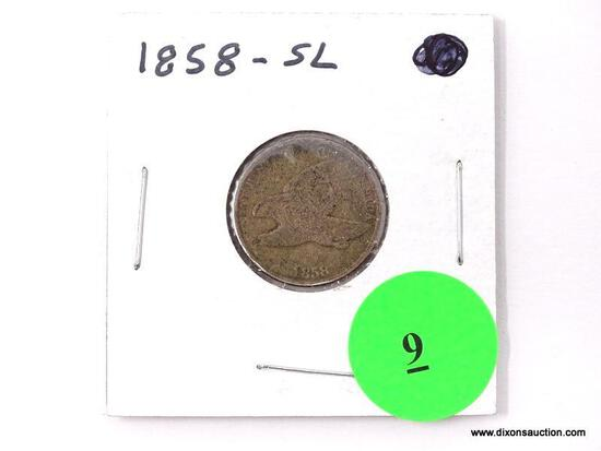 1858-SL Flying Eagle Cent