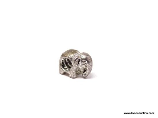 SMALL .925 STERLING SILVER ELEPHANT CHARM. WEIGHS APPROX. 4.80 GRAMS