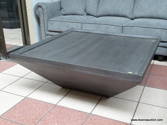 FOUR HANDS DRAKE COFFEE TABLE IN COAL GRAY. MEASURES 42 IN X 42 IN X 16 IN. RETAILS ONLINE FOR $999!