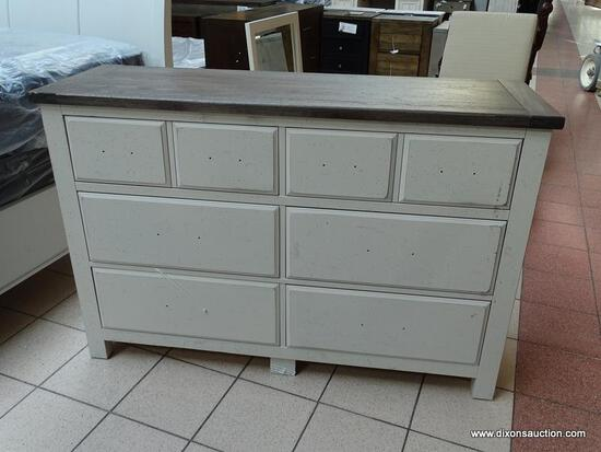 SOLID WOOD 6-DRAWER DRESSER FROM THE SIMONE COLLECTION BY VAUGHAN-BASSETT. FOR RELIABLE, HIGH