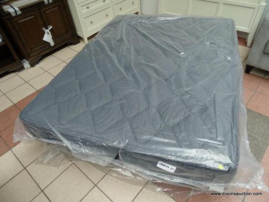 """SIGNATURE 12"""" QUEEN SIZE MATTRESS IN PLASTIC. ITEM IS SOLD AS IS WHERE IS WITH NO GUARANTEES OR"""