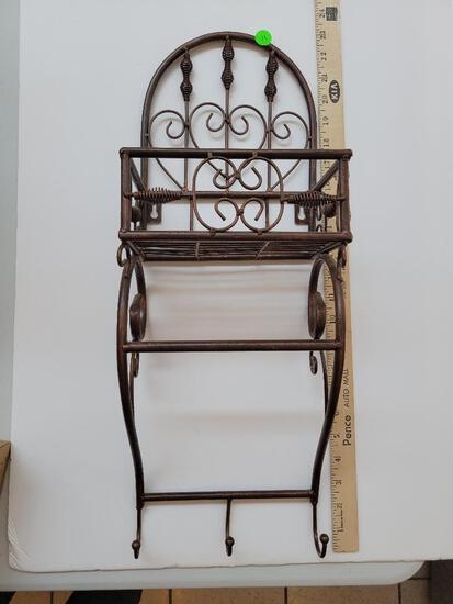BRONZE WALL RACK - APPROX 24 INCHES HIGH