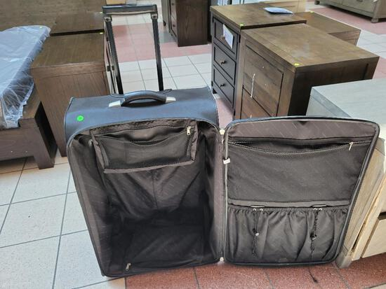 TRAVEL SUITCASE - 36 INCHES TALL, HEAVY DUTY WITH WHEELS AND HANDLE