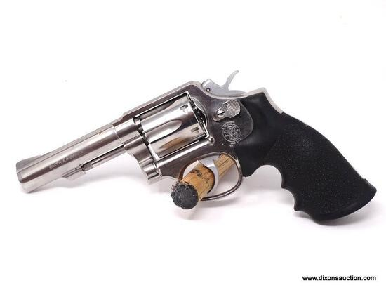 SMITH & WESSON .38 SPECIAL REVOLVER. SERIAL #P5CC-20. COMES WITH BLACKHAWK HOLSTER.