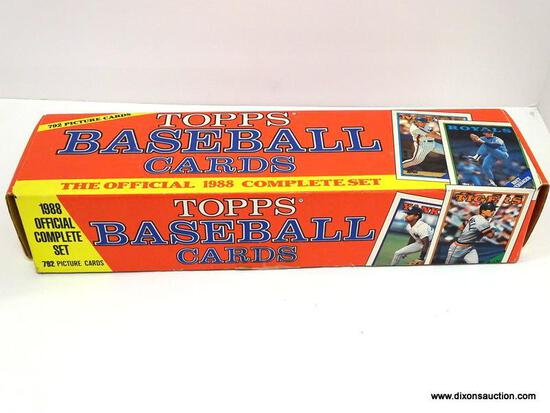 TOPPS 1988 BASEBALL CARDS LOOKS TO BE COMPLETE IN ORIGNAL BOX, PLAYERS INCLUDE JAMIE QUIRK, PAT