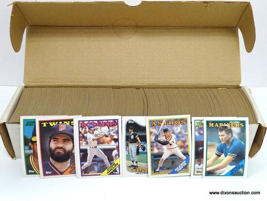 TOPPS 1988 BASEBALL CARDS LOOKS TO BE COMPLETE IN WHITE BOX, PLAYERS INCLUDE ERNIE WHITT, DAN PETRY,