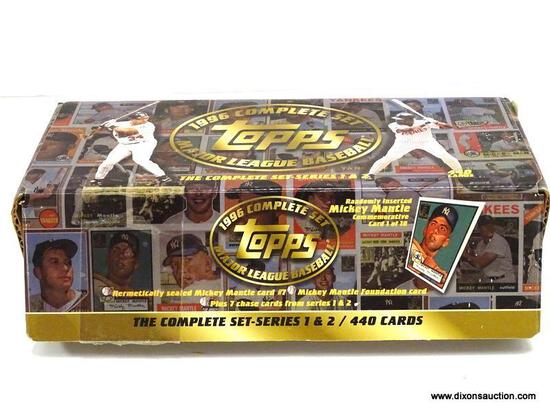 TOPPS 1996 MAJOR LEAGUE BASEBALL CARDS COMPLETE SET SERIES 1 AND 2 440 CARDS, IN THE ORGINAL BOX