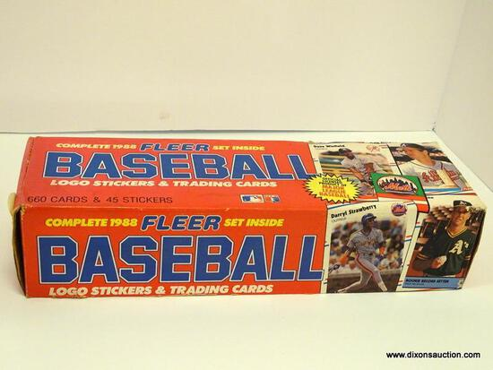 COMPLETE 1988 FLEER BASEBALL LOGO STICKERS AND TRADING CARDS. NCLUDES PLAYERS SUCH AS PASCUAL PEREZ,