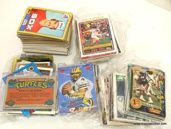 BAG OF ASSORTED BASEBALL CARDS, INCLUDES PLAYERS MIKE KINGERY, JOEL DAVIS, ECT. ITEM IS SOLD AS IS