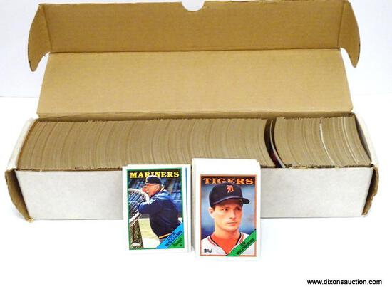 TOPPS 1988 BASEBALL CARDS LOOKS TO BE COMPLETED IN WHITE BOX. ITEM IS SOLD AS IS WHERE IS WITH NO